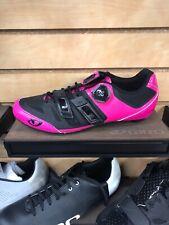 Giro Women's Raes Techlace Road Shoe Bright Pink/Black EU 39 US 7.5 Brand New