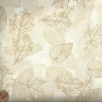 Leaf toile nature cream Timeless Treasures fabric