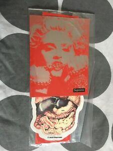 Supreme Fw18 Sticker Pack Madonna, Guts