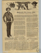 1956 PAPER AD 2 PgKit Carson Holster Outfit Rusty Rin Tin Tin Superman Oakley
