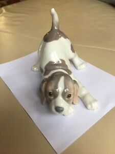 Lladro Beagle Puppy #1070 Issued 1969, excellent condition