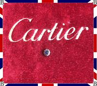 Genuine Cartier Cougar Crown Steel & Blue Sapphire Cabochon 3.7mm VC070189 GM