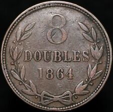 More details for 1864 | guernsey 8 doubles | bronze | coins | km coins