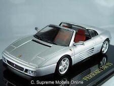 FERRARI 348 TS MODEL CAR 1/43 SCALE PACKAGED ITALY SPORT SILVER ISSUE K8967Q~#~