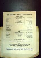 Old Arts Theatre Programme 1943 Couple Rivals Pot Buster Johnson Meth 20th