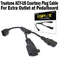 1-SPOT AC Power Cable Splitter Courtesy Plug Adds Extra Outlet Truetone ACY-US
