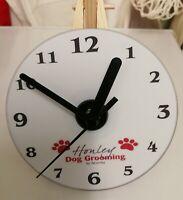 Personalised Custom DVD Desk Clock Own Image Photo Design Picture Company Logo