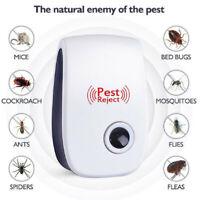 Electronic Ultrasonic Pest Reject Bug Mosquito Cockroach Mouse Killer EU/U UD$N