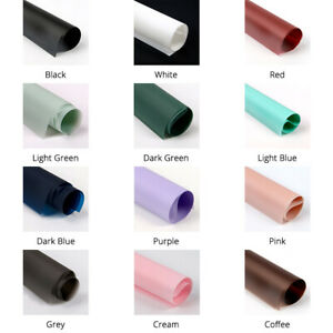 20 Sheets of Frosted Wrapping Papers for Flower Bouquets Various Colors