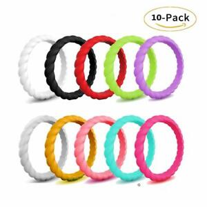 ROQ Silicone Rings for Women Breathable Silicone Rings Comfort Fit Silicone Wedding Ring for Women Sets of 1//4//6 Bands Medical Grade Silicone Rubber Band Unique Womens Silicone Wedding Ring