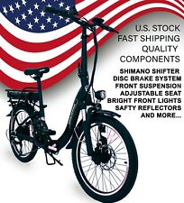 Electric Folding Bicycle Aluminum Suspension FR Disc Brake LCD 36V 7 Speed Bike