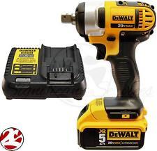 "NEW DeWALT DCF880 20V 20 Volt MAX 5.0 Ah Battery Cordless 1/2"" Impact Wrench Kit"