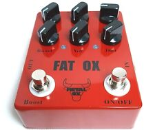 More details for metal ox oxp-101, fat ox heavy distortion guitar effect pedal. (uk stock)