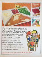 Lot of 3 Vintage Swanson TV Dinner Print Ads
