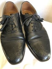 Brass Boot Mens Shoes Size10 Black Handmade In Spain