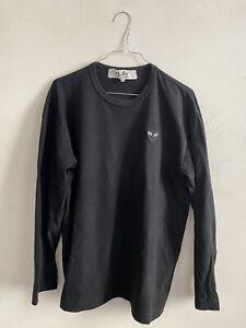 Cdc Comme Des Garcons PLAY Orig. Longsleeve Langarm Shirt in Schwarz, Größe XL