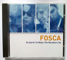 Fosca ‎- On Earth To Make The Numbers Up - 2000 UK CD - Like Sarah Records MINT