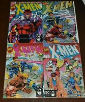 Marvel Comics X-MEN vol. 2 #1 Four variant lot. Oct '91 NM- to M