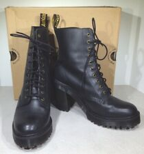 Dr. Martens Kendra Women's Size 9 Black Leather Heeled Combat Boots X4-1001