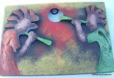 Mythological Dueling Kokopelli Pipers Metal Wall Art Good Luck Fertility Garden