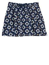 New Baby Gap Girls Geometric Print Corduroy Skirt Navy Size 3T