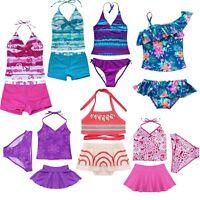 Kids Girls Swimming Bikini Suit Swimwear Swimsuit Beach Clothes Clothing 2/3PCS