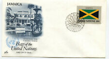 United Nations #405 Flag Series, Jamaica, ArtCraft, Fdc