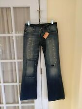 Chip and Pepper Olivia Platinum Jeans 29 NWT Distressed Patches