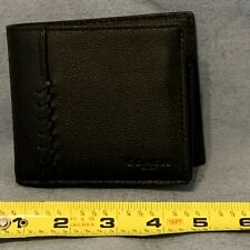 Coach Mens Black Leather Wallet
