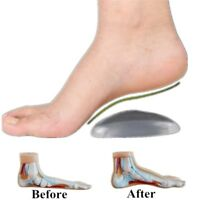 1Pair Gel Orthotic Arch Support Insole Flat Foot Correction Shoe Cushion Insert