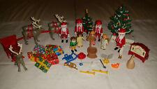 Playmobil Konvolut Weihnachten Weihnachtsmann Rentiere Schlitten Tannebaum Engel