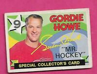 1971-72 OPC # 262 WINGS GORDIE HOWE MR HOCKEY COLLECTORS  CARD (INV# D8022)