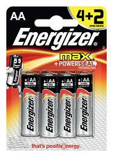 Pilas 1x4 2 Energizer Max Mignon AA LR 6 1 5V