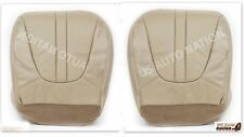 1997 to 2002 Ford Expedition  Driver & Passenger Bottom Leather Seat Covers Tan