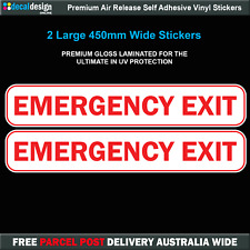 Emergency Exit Decals  x2 Gloss Laminated Passenger Bus Transport Decals #E010
