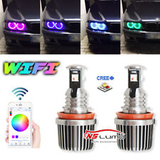 RGB H8 LED Angel Eyes Replace HID Bulb Ring Light  For BMW E90 E60 Wifi Control