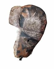 Mens Ladies Shower Proof Camouflage Woodland Fur Trapper Russian Hat