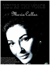 "MARIA CALLAS ""YOU'RE THE VOICE"" PIANO/VOCAL/GUITAR MUSIC BOOK/CD-NEW ON SALE!!"