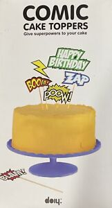 Comic Cake Toppers Give Superpowers To Your Cake Set Of 6