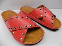 NEW! Comfortview GIA#15357 Woman's Slip On Sandals With Studs Size 8-1/2 W