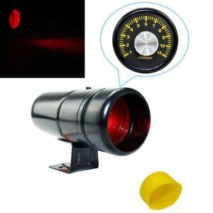 Black 1000-11000 RPM Adjustable Tachometer Tacho Gauge Shift Light Red LED