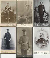 6 CDV Fotos um 1900 - Militär