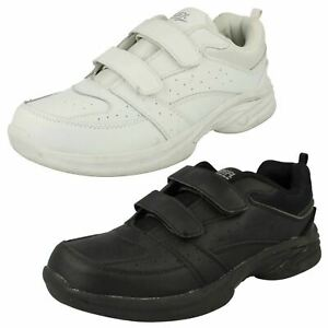 Mens Reflex Casual Rounded Toe Hook & Loop Leather Trainers A2R123