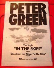 """Peter Green In The Skies Vintage ORIG 1979 Press/Magazine ADVERT 11""""x 8"""""""