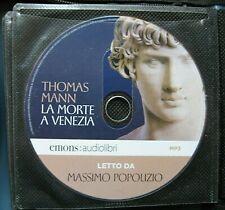Audiolibro audiobook cd MP3  LA MORTE A VENEZIA - THOMAS MANN / usato