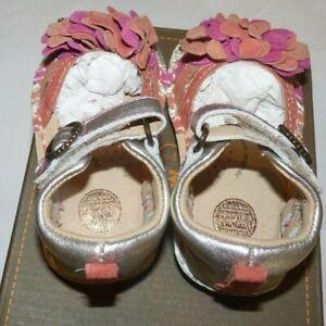 NEW MC Amora Cream Girls Sandals Girls 4 1/2 - 4.5 - Leather - BG49106 NEW NIB