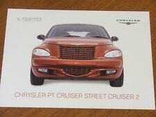 c2003 Chrysler PT Cruiser Street Cruiser 2 original single page brochure