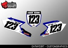 FOR YAMAHA YZF 250 450  2014-16 PRINTED BACKGROUNDS NUMBER BOARDS MX GRAPHICS
