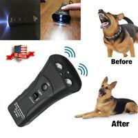 Ultrasonic Anti Dog Barking Pet Trainer LED Light Gentle Chaser Petgentle Sonics
