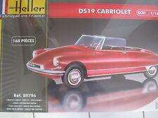 Citroen DS19 Cabriolet Oldtimer Auto  1:16 *NEU*  Heller Plastikbausatz
